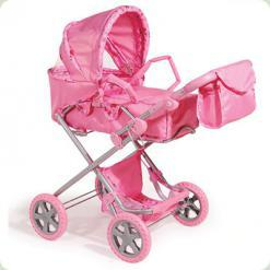 Коляска для ляльок Melogo (Metr +) 9333 Рожевий