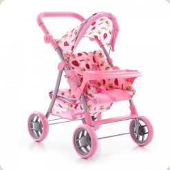 Коляска для ляльок Melogo (Metr +) 9337 Рожевий