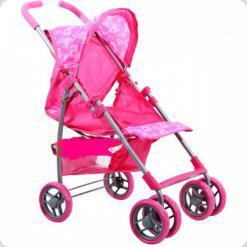 Коляска для ляльок Melogo (Metr +) 9351A Рожевий