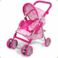 Коляска для ляльок Melogo (Metr +) 9352 Рожевий