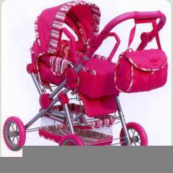 Коляска для ляльок Melogo (Metr +) 9360 Рожевий