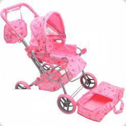 Коляска для ляльок Melogo (Metr +) 9368 Рожевий
