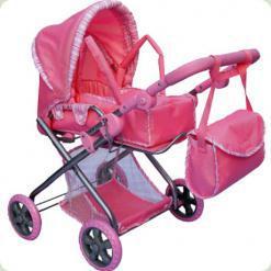 Коляска для ляльок Melogo (Metr +) 9379 Рожевий