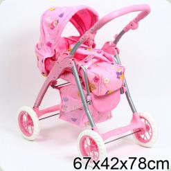 Коляска для ляльок Melogo (Metr +) 9388 Рожевий