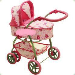 Коляска для ляльок Melogo (Metr +) 9662 Рожевий