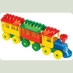 Конструктор - Паровоз з двома вагонами