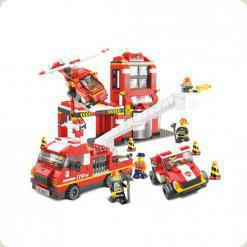 Конструктор Sluban 620040 / M 38 B 0227 Пожежна частина 727 деталей