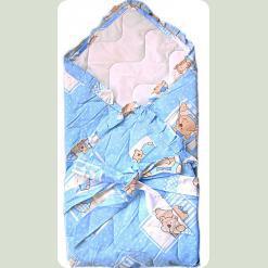 Конверт-ковдра для немовляти силікон, бязь набивна, бязь вибілена