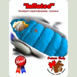 Конверт-пуховик Inflated (дутик 50х90) блакитний