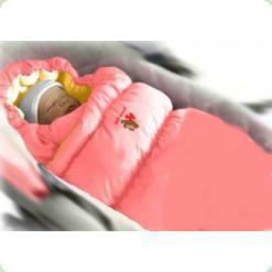 Конверт-пуховик Inflated-A фланель (дутик 50х90) рожевий