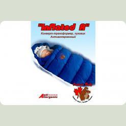 Конверт-пуховик Inflated-A фланель (дутик 50х90) синій