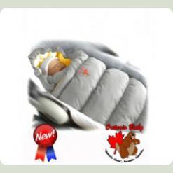 Конверт-пуховик Inflated-A фланель (дутик 50х90) світло-сірий