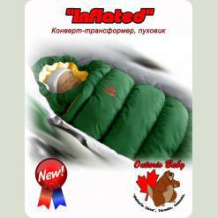 Конверт-пуховик Inflated-A фланель (дутик 50х90) зелений