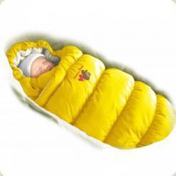Конверт-пуховик Ontario Baby Inflated Lux (дутик 50х90) жовтий
