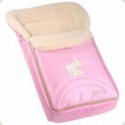 Конверт Womar 04 Zaffiro з капюшоном (велюр-мікрофібра) рожевий