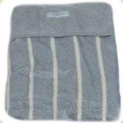 Ковдра-плед в смужку Womar Zaffiro 100% бавовна 100х150 см Сірий / Бежевий