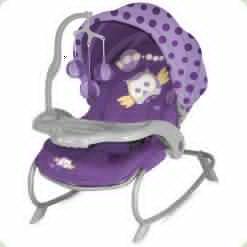 Крісло-гойдалка Bertoni Dream Time Violet Baby Owl