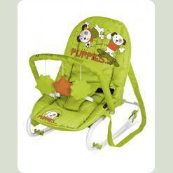 Крісло-гойдалка Bertoni Top Relax with Toy Green & Orange Puppies