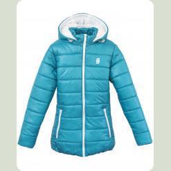 Куртка Frantolino 2202-008 з капюшоном синьо-зелена