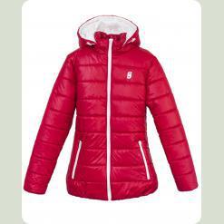 Куртка Frantolino 2202-050 з капюшоном темно-червона