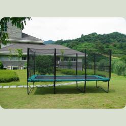 Прямокутний батут Kidigo із захисною сіткою, розмір 457 на 305 сантиметрів