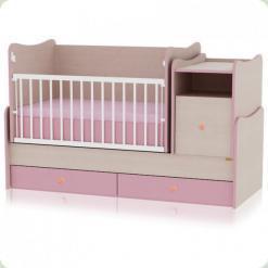 Ліжечко Bertoni TREND PLUS (oak / pink)