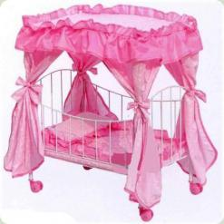 Ліжечко для ляльок Melogo (Metr +) 9350 Рожевий