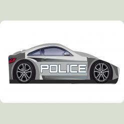 "Ліжечко-машина ""Поліція-1"", сіра"