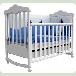 Лiжко для новонароджених 11 (декор різьблення ведмежата)