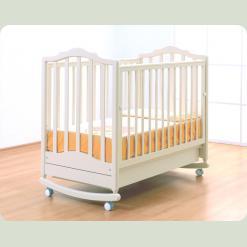 """Ліжко """"Екатерина"""" на колесах та з планкою для гойдання"""