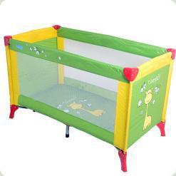 Ліжко- манеж Bambi M 1545 Зелено -жовтий