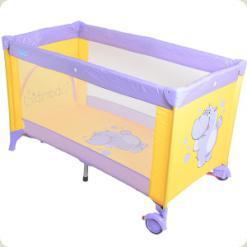 Ліжко- манеж Bambi M 1548 Фиолетово -жовтий