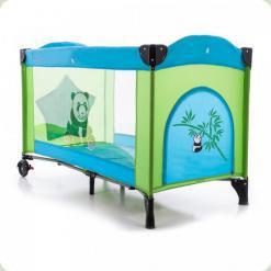 Ліжко- манеж Bambi M 1705 Зелено -блакитний
