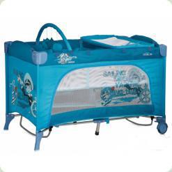 Ліжко- манеж Bertoni Travel Kid Layer Rocker Blue Capitain