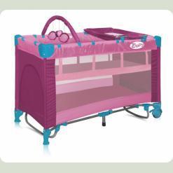 Ліжко- манеж Bertoni Zippy 2 Layer Pink