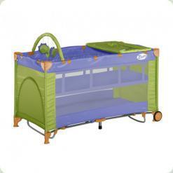 Ліжко-манеж Bertoni Zippy 2 Layer Plus Violet & Green