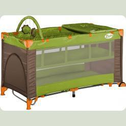 Манеж Bertoni ZIPPY 2L + ROCKER (green beige)