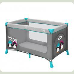 Манеж Just4kids NANNY 1L (grey green igloo)