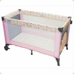 Манеж -ліжко Bambi M0824 Рожевий