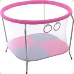 Манеж OMMI Euro Mini Рожевий