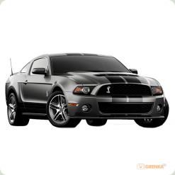 Машинка мікро р/к 1:43 лиценз. Ford GT500 (сірий)