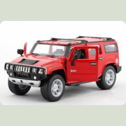 Машинка р/к 1:24 Meizhi лиценз. Hummer H2 металева (червоний)