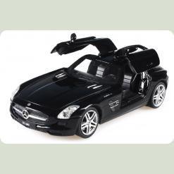 Машинка р/к 1:24 Meizhi лиценз. Mercedes-Benz SLS AMG металева (чорний)
