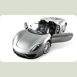 Машинка р/у 1:14 Meizhi ліценз. Porsche 918 (сірий)