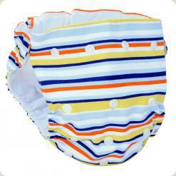 Мультіразмерние багаторазові підгузки Блакитний / оранж / жовтий