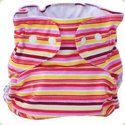 Мультіразмерние багаторазові підгузки Рожевий / бордо / жовтий