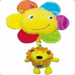 Музична тремтяча іграшка-підвіска Biba Toys Сонечко і Левеня (134JF)