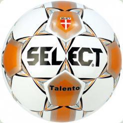 М'яч футбольний SELECT Talento № 5 біло-помаранчевий