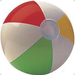 М'яч Intex різнокольоровий надувний (59010)