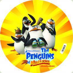 М'яч «Пінгвіни з Мадагаскару», 23 см